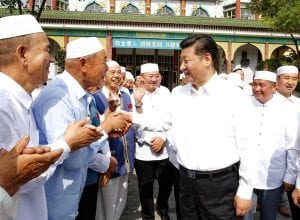 Chinese President Xi Jinping visited a masjid and requested Muslims for dua for China.